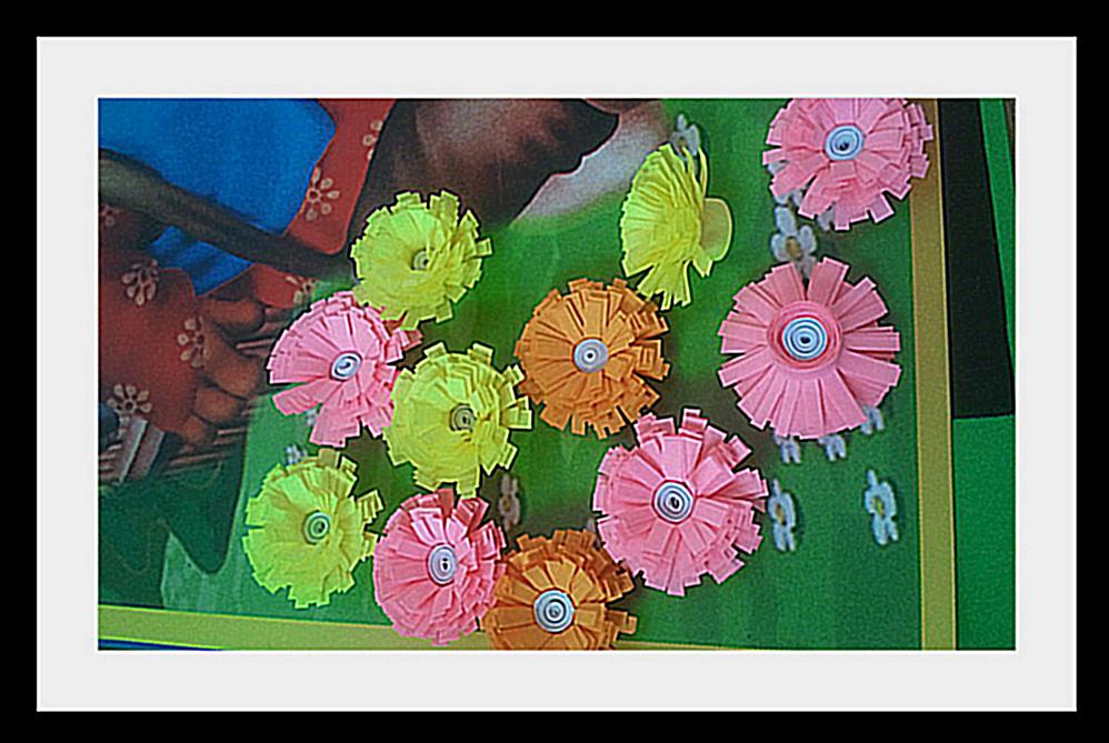 цветы из бумаги Корзинка цветов