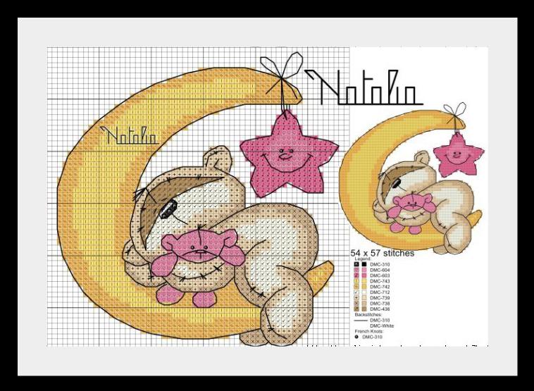 мишки сони схема Мишки Fizzy Moon (часть первая)