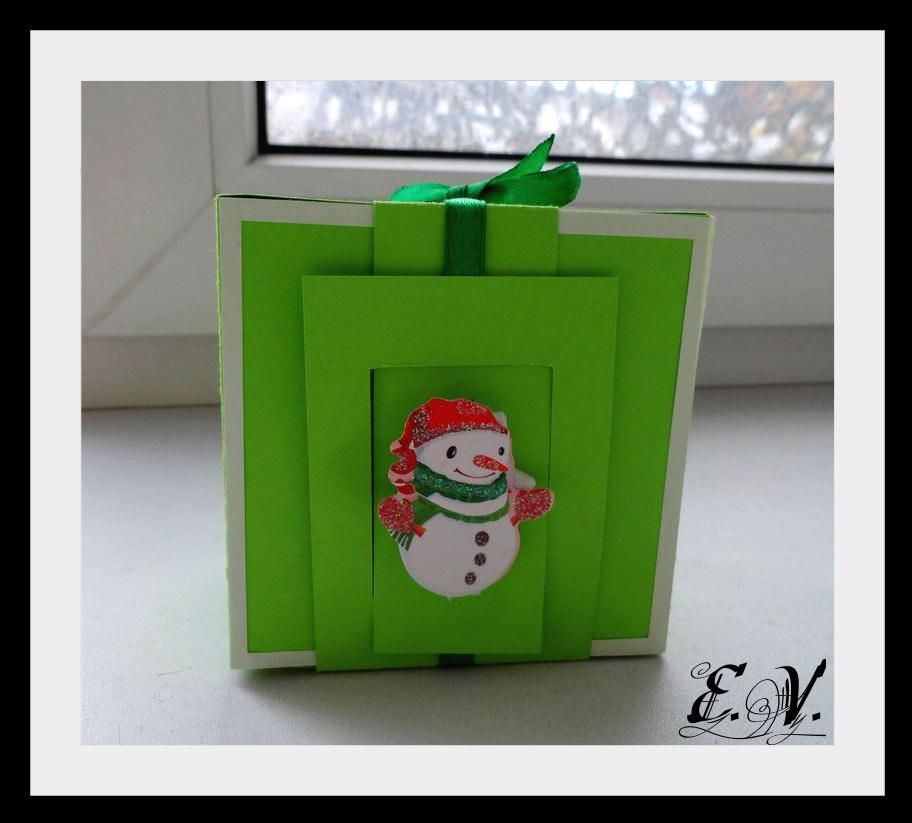 DSC04160 Упаковки для подарков на Новый год (коробочка №2)