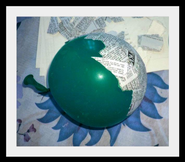 Как сделать из папье маше шар
