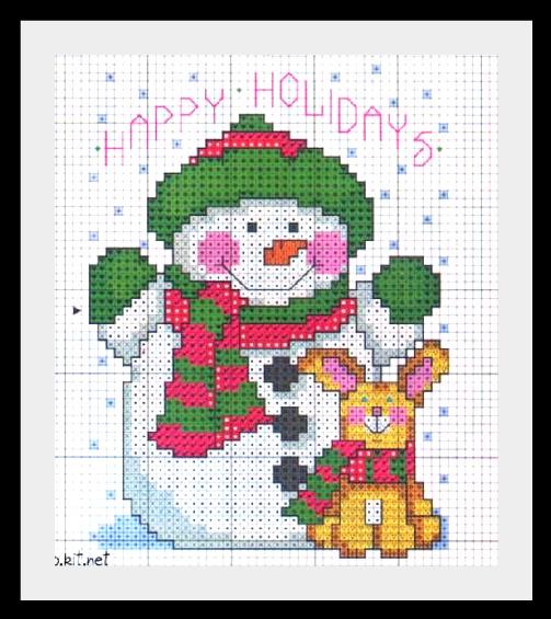 snegovik1 Схемы для вышивки Снеговиков