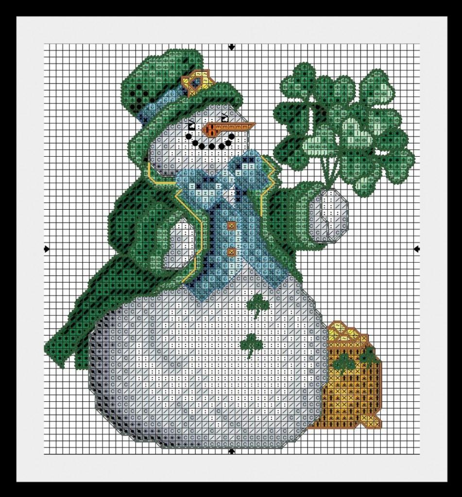 snegovik10 951x1024 Схемы для вышивки Снеговиков