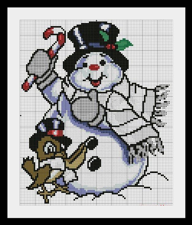 snegovik2 Схемы для вышивки Снеговиков
