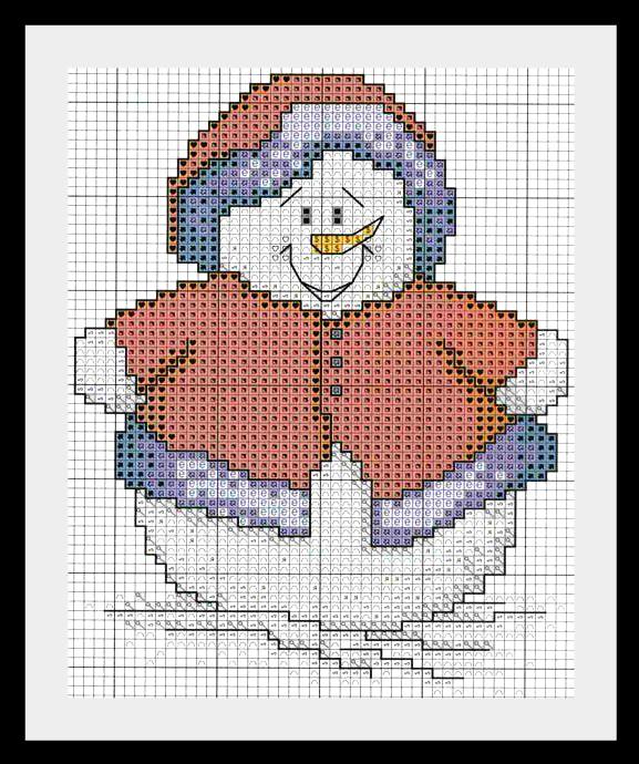 snegovik3 Схемы для вышивки Снеговиков