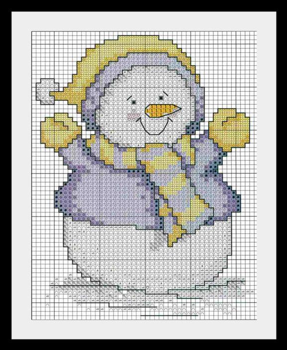 snegovik6 Схемы для вышивки Снеговиков