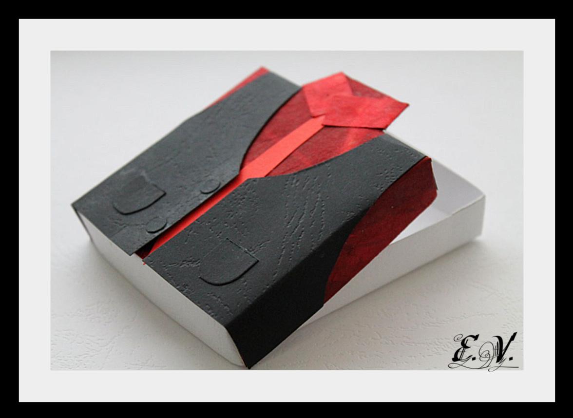 korobo4ka myzskaya11 Упаковка для подарка в виде Жилетки