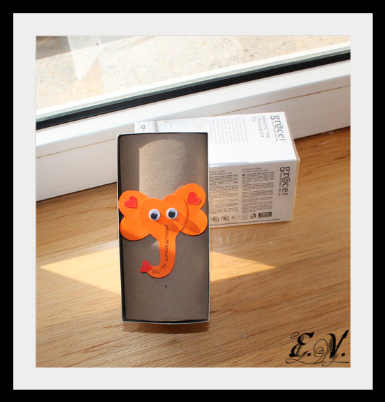 slonik4 Упаковка подарков   веселый слоник