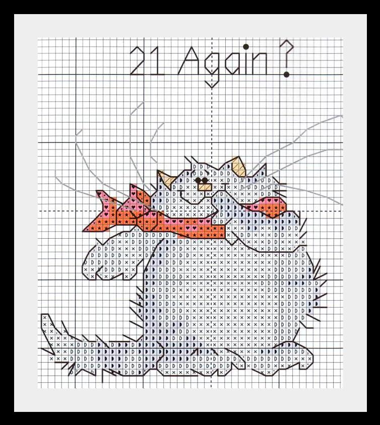 kotik vushivka9 Веселые котики: схемы для вышивки.